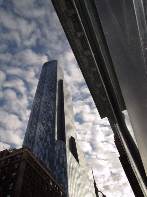 Looking up from West 57th Street, New York City